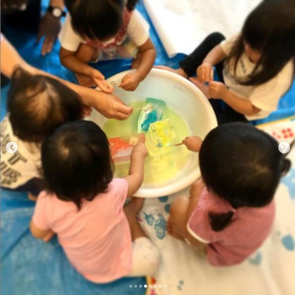 生駒市 保育園 いこいの家NRS 感触遊び (その3)